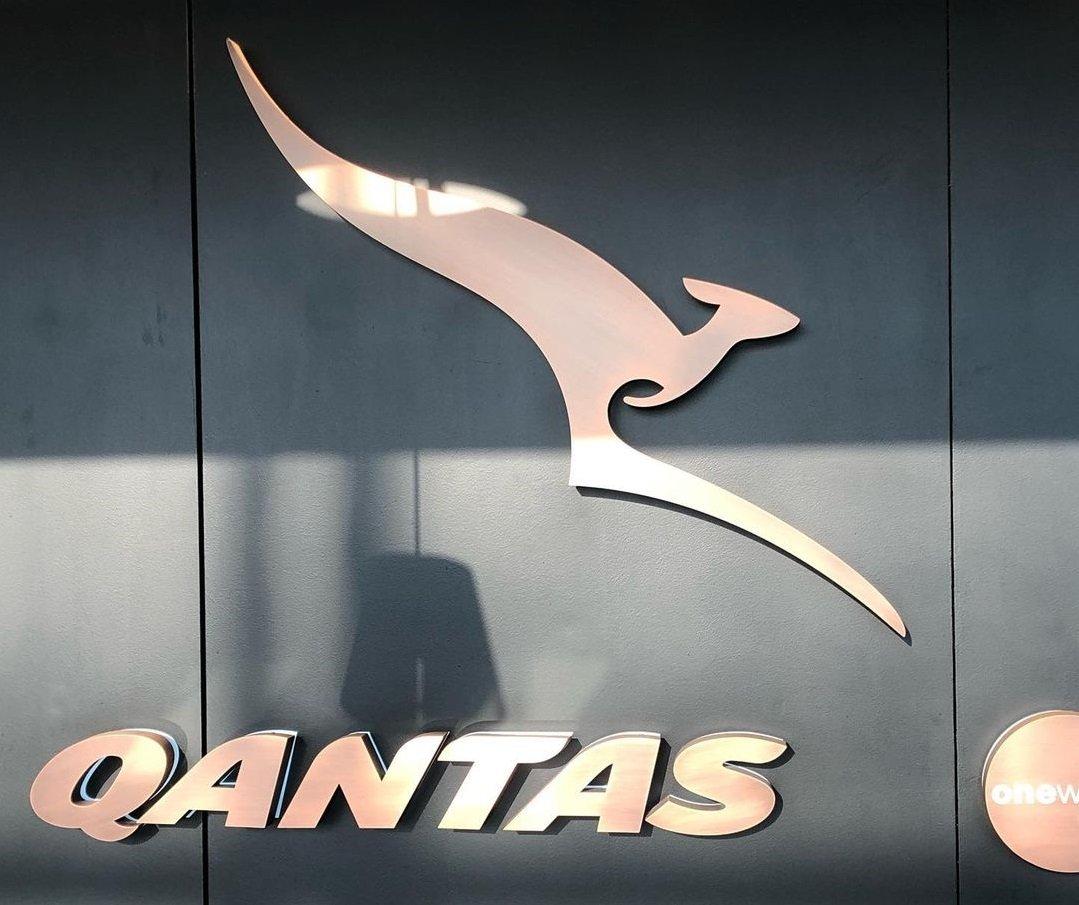 Qantas Logo Lounge Entrance